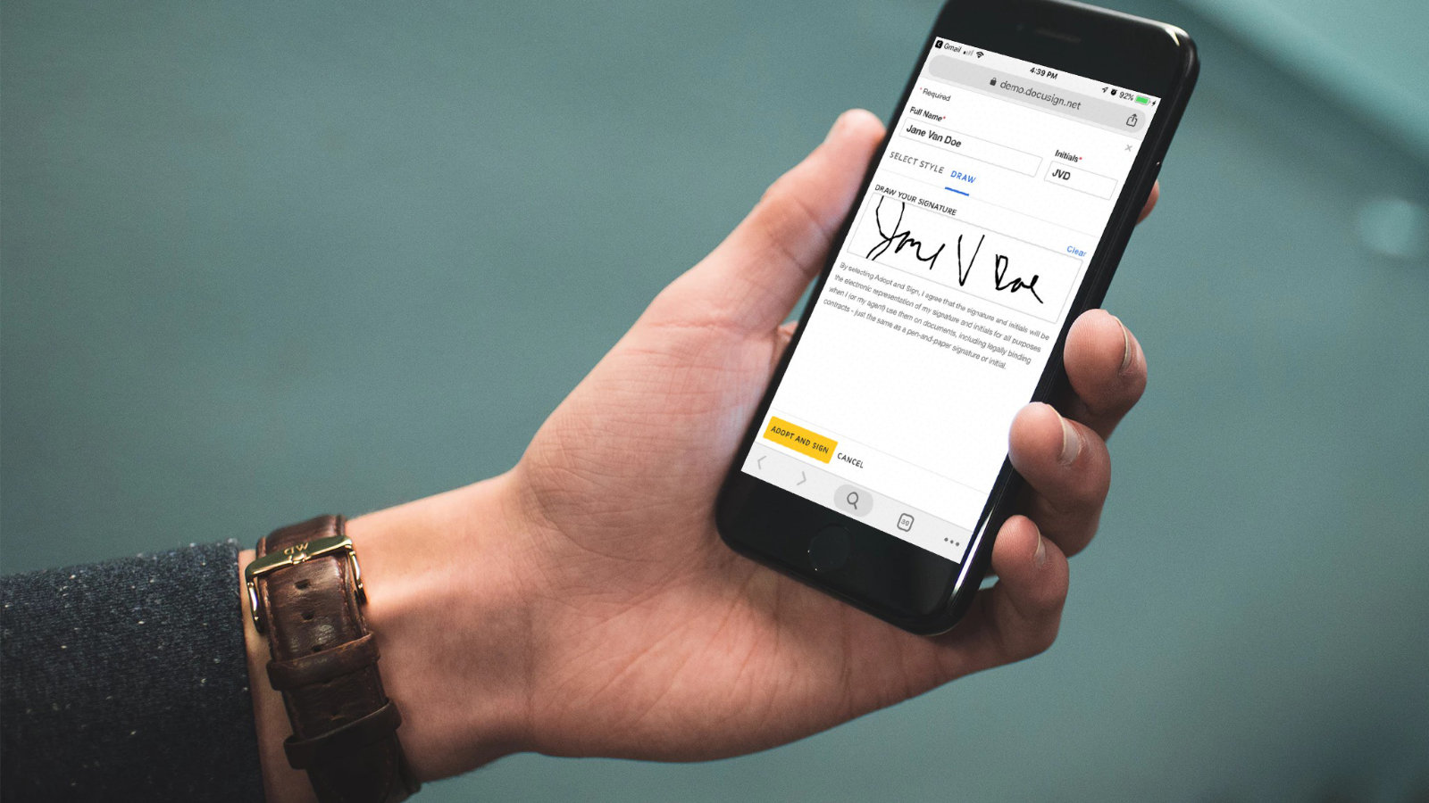 docusign on iphone
